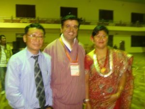 Ganesh with singer Rai, and his wife