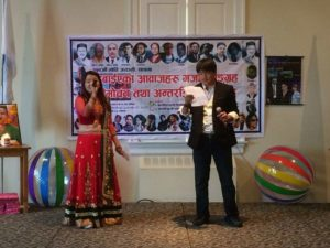 Rajesh and Meera singing
