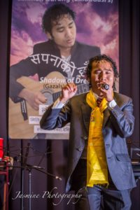 Artist Gurung performs at the album releasing event organized in Adeliade