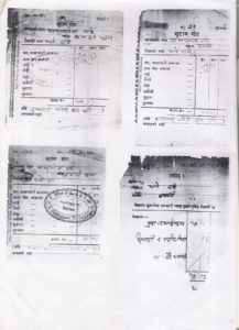 Images of the required land Tax receipts. Picture Courtesy: Sarki Dhan