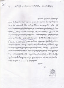 The copy of an appeal made to the His Majesty the King. Photo Courtesy: Sarki Dhan